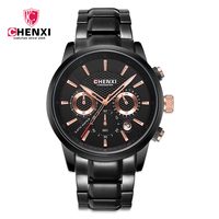 CHENXI 2018 Men Quartz Watch Men Military Male Sports Full Stee Chronograph Waterproof Wrist Watches Relogio