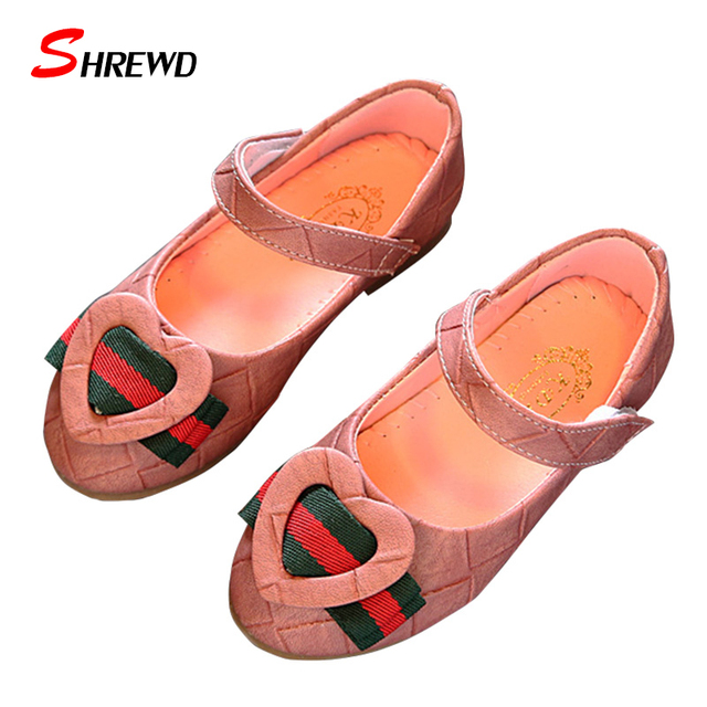 Girls Shoes Brand Spring 2017 New Fahsipn Love Childrens Girls Shoes Soft Bottom Dancing Kids Shoes Insole 15.5-22cm 9587W