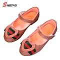 Girls shoes marca primavera 2017 nueva fahsipn amor para niños girls shoes kids shoes plantilla de baile de fondo suave 15.5-22 cm 9587 w
