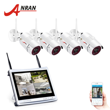 ANRAN 4CH Wifi CCTV System 12″ LCD NVR Kit P2P 960P HD IR Night Vision Surveillance IP Camera Outdoor Security Camera System