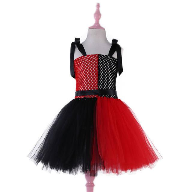 Girls Halloween Clown Dress Costume