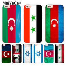 MaiYaCa azerbaijan syria israel flag soft tpu phone case cover for Apple iPhone 8 7 6 6S Plus X 5 5S SE 5C XS MAX XR case(China)