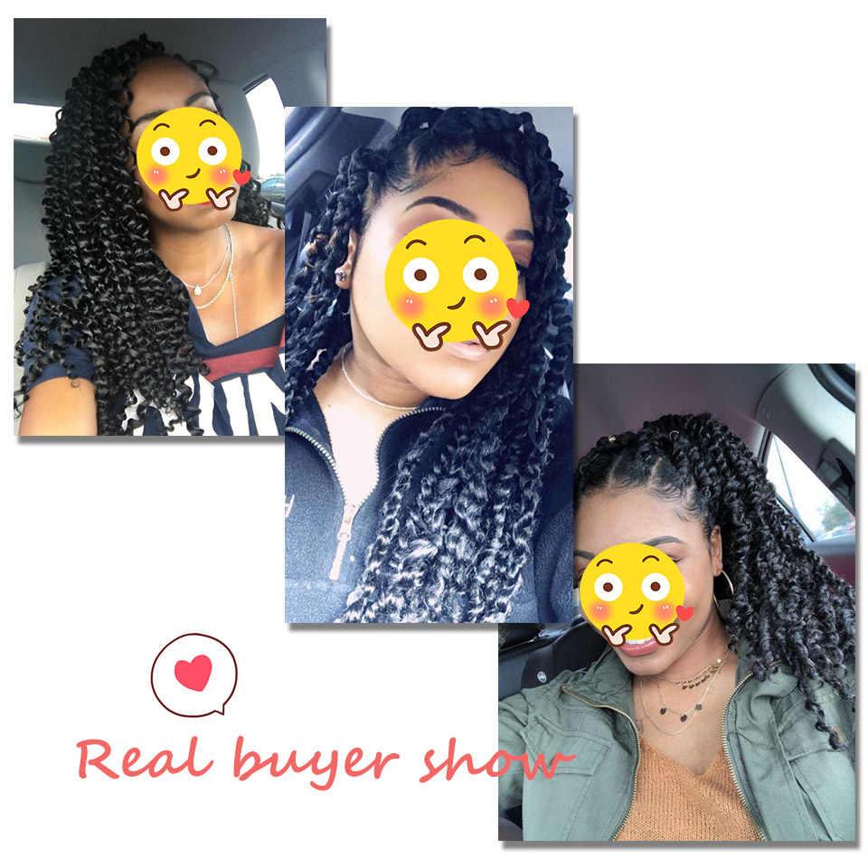 AISI BEAUTY 18 дюймов страсть твист волосы Омбре блонд волна воды богемные плетеные косы Синтетический Шнур наращивание волос
