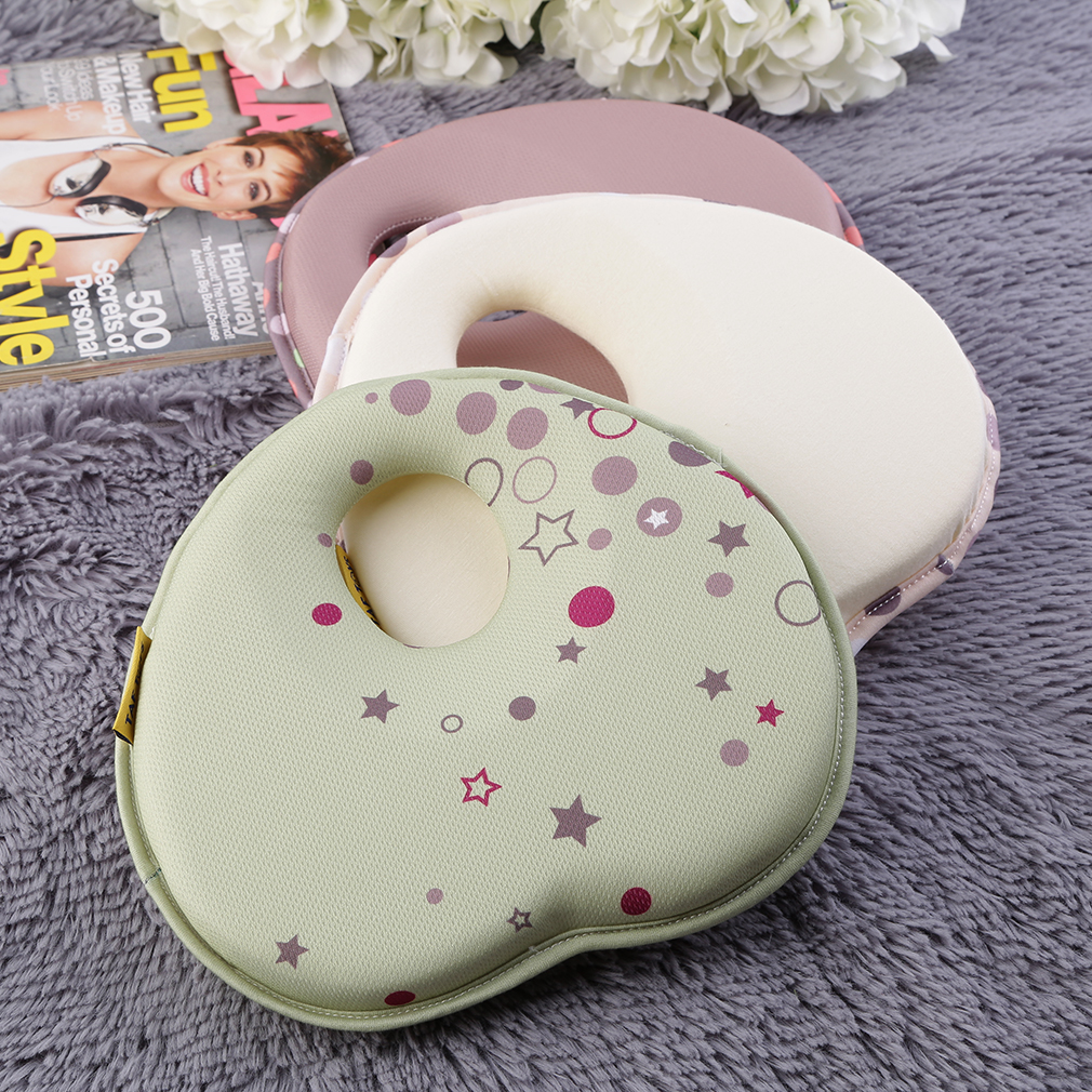 Lovely Newborn Toddler Safe Anti Roll Baby Infant Pillow Sleep Head Positioner Preventing Flat Head