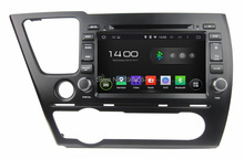 Quad Core 2 din 8″ Android 5.1 Car dvd player for Honda Civic Saloon 2014 With GPS 3G WIFI Bluetooth Car Radio USB DVR 16GB ROM