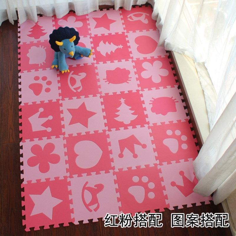 EVA New 10pcs Puzzle Floor GYM Soft Kids Red Pink FOAM MATS Exercise GYM Puzzle Soft Tile Floor Kids Play Room 30cm