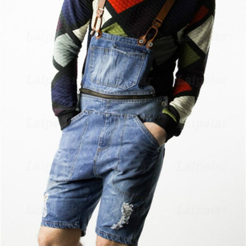 5b4c8b20068 Laipelar 2018 Mens Casual Retro Denim Overalls Long Suspender Pants Spring  Autumn Jeans Jumpsuit for Men Overalls Plus Size-in Jeans from Men s  Clothing on ...