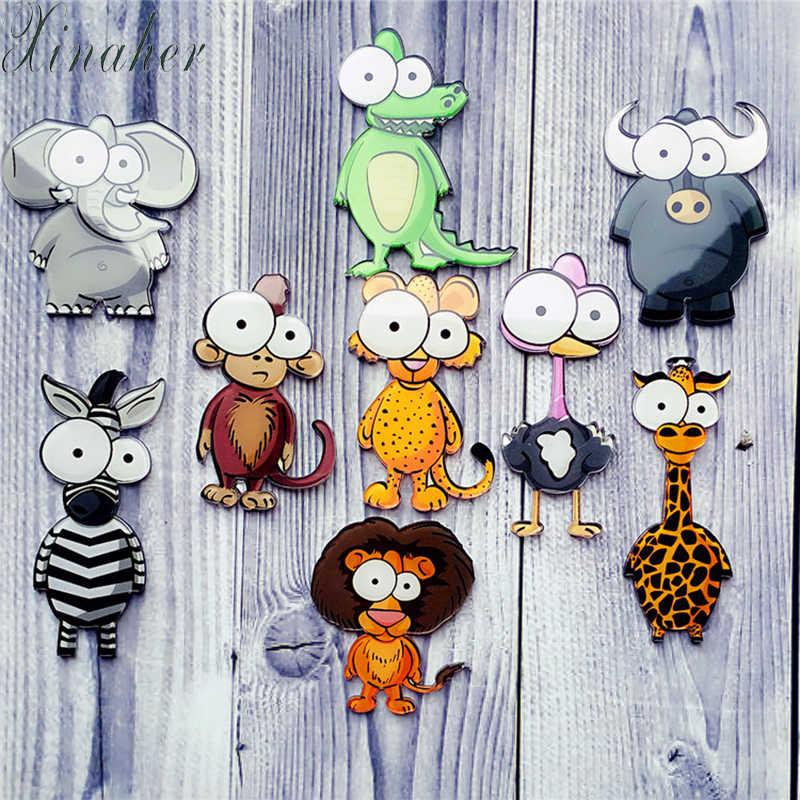 1 sztuk ikona Cartoon śliczne zwierząt Zebra akrylowe broszka odznaka Pin plecak ubrania dekoracji broszki dla kobiet prezent