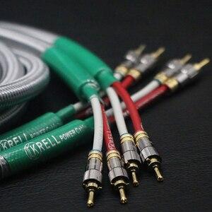 Image 2 - Głośnik hifi kabel Audio pozłacana wtyczka bananowa kabel audiofilski OFC i srebrny Krell wzmacniacz Speakon kable wiązkowe