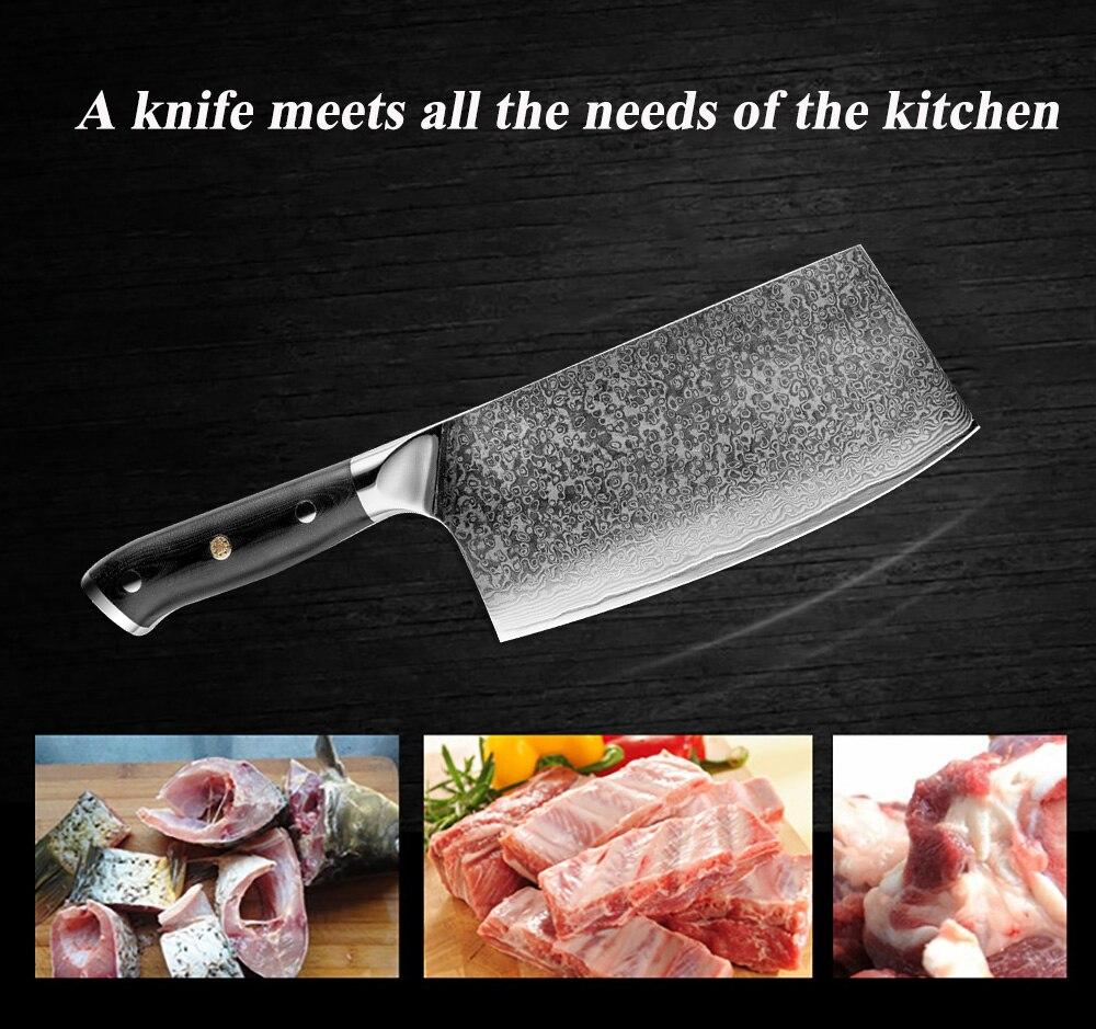 XITUO дамасский нож для шеф-повара, дамасская сталь, японский нож Sankotu, нож для резки мяса, кухонный нож для приготовления пищи