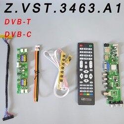 Z. VST.3463.A1 V56 V59 uniwersalny panel sterowników lcd wsparcie DVB-T2 płyta TV + 7 przełącznik kluczykowy + IR + 4 lampa inwerter + LVDS
