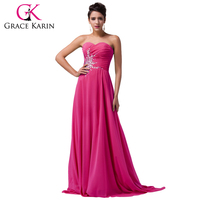 Grace Karin Evening Dress Real Sweetheart Rose Red Green Long Formal Party Gowns Beading Sequins Celebrity Gown Prom Dress 2018