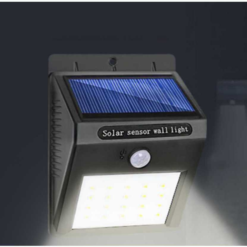 Waterproof Solar Lamp 20 LEDs Motion Sensor LED Solar Light Solar Panels Power Garden Light Outdoor Pathway Sense Wall Lighting