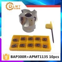 Hot Sale BAP300R 50MM 22 4 Flute Face End Mill Flat Cutter 10pcs APMT1604 Carbide Inserts