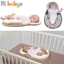 Прямая поставка, детская подушка для новорожденного младенца, матрац, подушка для сна, подушка для позиционирования, предотвращающая плоскую форму головы, анти-рулонные подушки