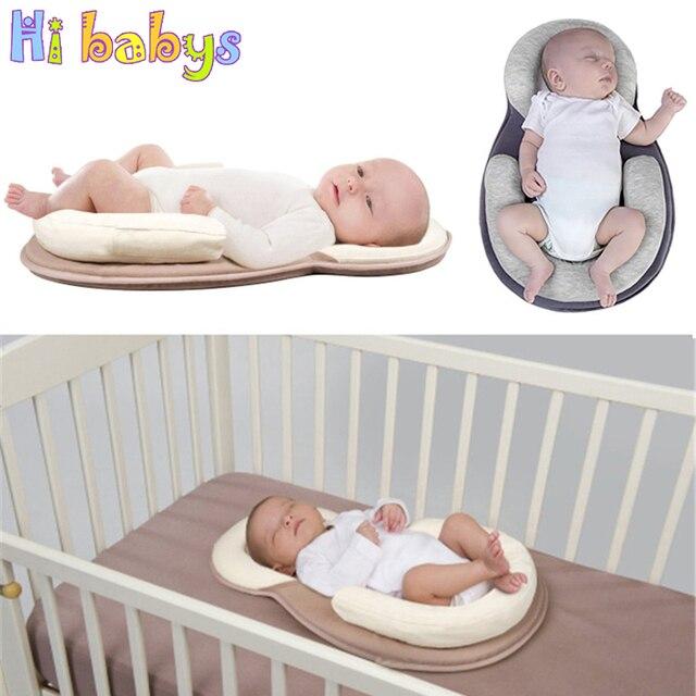 Dropship Baby Pillow Infant Newborn Mattress Pillow Baby Sleep Positioning Pad Prevent Flat Head Shape Anti Roll Pillows