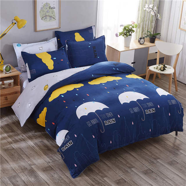 3D Bedding Sets Rainbow Cloud Printed Duvet Cover Single Twin Double Queen  Full King Size Cartoon