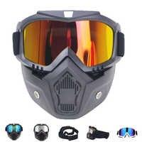 Delle Donne degli uomini di Sci Snowboard Maschera Motoslitta Occhiali Da Sci Antivento Motocross Occhiali di Protezione di Sicurezza Occhiali con la Bocca Filtro