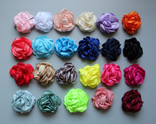 1000pcs/lot 23colors Vintage Burned Eage Hair Rose Flowers For Children Accessories Artificial Fabric Headbands