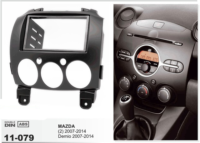 11-079 car radio stereo face facia surround trim Kit for MAZDA 2 Mazda2 Demio Stereo Fascia Dash CD Trim Installation Kit car radio dvd cd fascia panel for faw oley 2012 stereo dash facia trim surround cd installation kit
