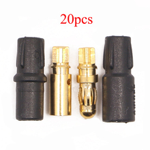 20PCS AMASS SH3.5 Banana Plug 3.5mm Male Female Connector With Cover Case Sleeve for Fixed Wing