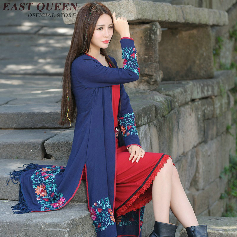 Summer Clothes For Women Traditional Chinese Clothing Women Long Sleeve Cardigan Female Summer Long Cardigan   AA1847