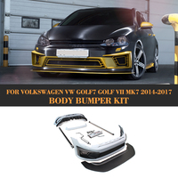 Car Body Bumper Kits auto Bodykits With Exhaust systems for Volkswagen VW Golf 7 MK7 Standard 14 17 Grey PU Non GTI R
