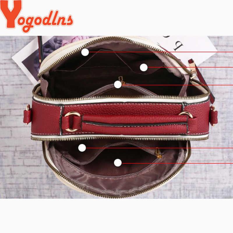 Yogodlns, bolso de hombro de costura a la moda, bolso de cuero de PU para mujer, bolso cruzado de lujo, nuevas cadenas, bolso cuadrado, bolso de señora, bolso principal