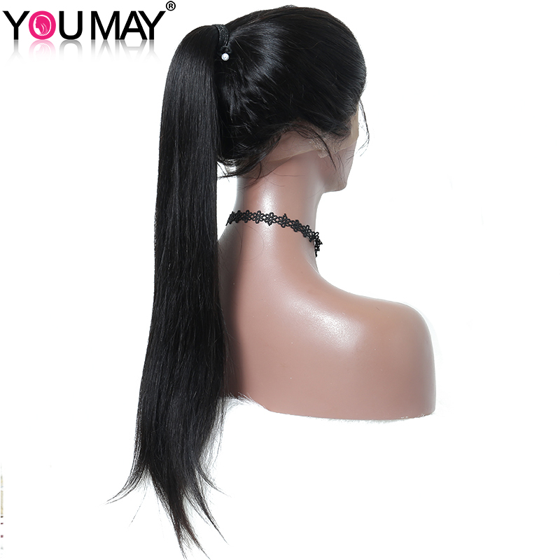 You May Hair 180% Density Silky Straight Full Lace Human Hair Wigs For Black Women Pre Plucked With Baby Hair Brazilian Remy