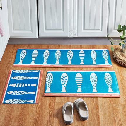 3pcs Set Washable Living Room Carpet Anti Slip Bedroom Footcloth Area Rugs Kitchen Mat