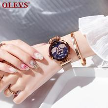 OLEVS Fashion Casual Quartz Watch White Swan Rhinestone Women's Watch Rose Gold/Black/Blue/Purple swatch watch skin series fashion black and white quartz watch syxs100