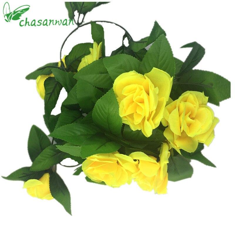 Hot 25m Artificial Flowers Ivy Roses Silk Flowers Garland Diy