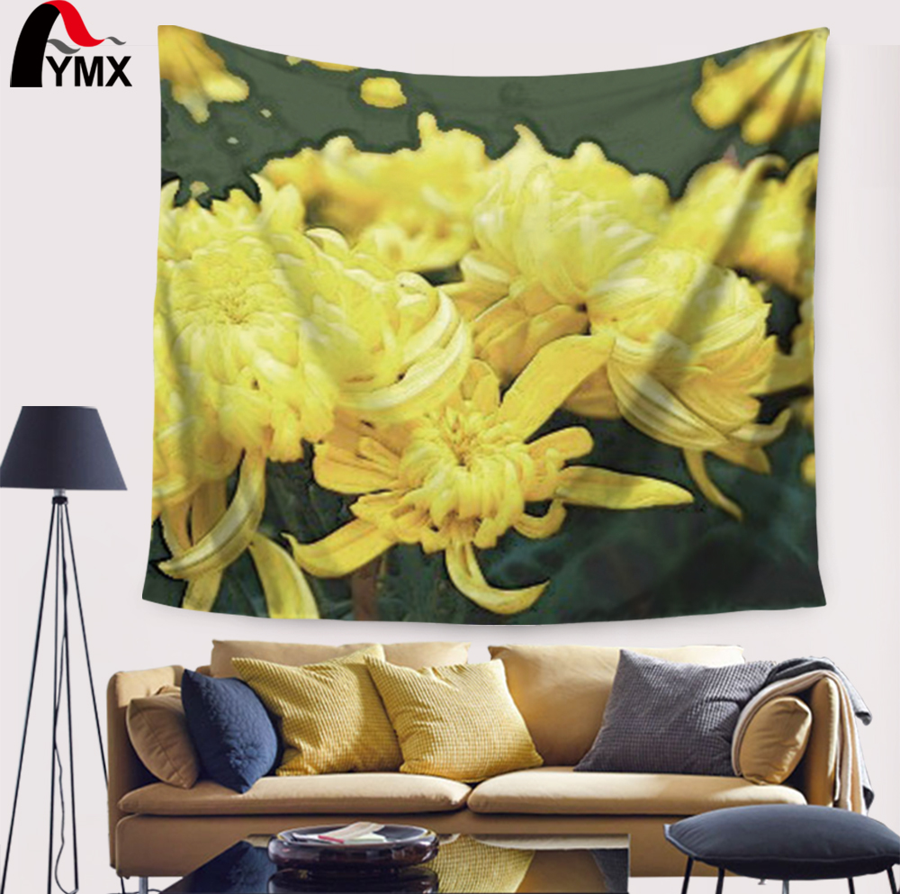 Flower Printing Mandala Tapestry Wall Hanging Home Textile ...