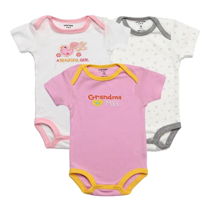 3 Sztuka / partia Baby Rompers Kid Kombinezon Baby Boy Romper - Odzież dla niemowląt - Zdjęcie 3