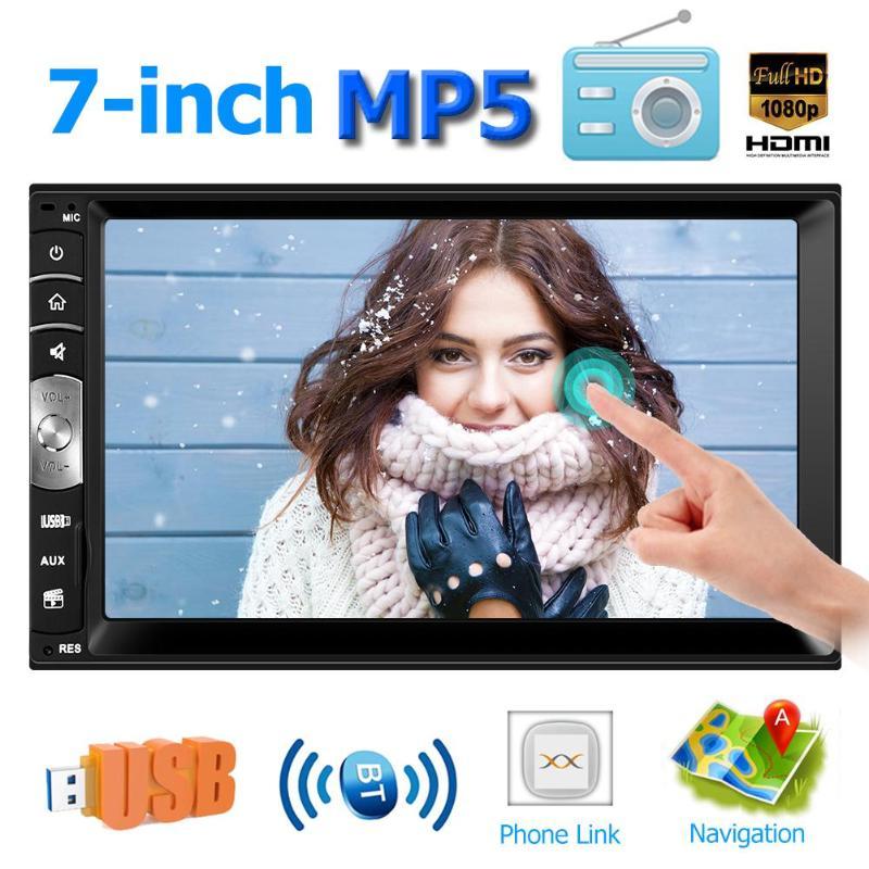 7.0 pouces tactile 2DIN voiture stéréo MP5 lecteur Bluetooth RDS AM FM Radio USB alimentation Aux entrée multimédia stéréo lecteur vidéo
