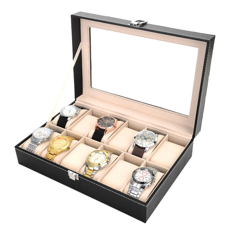2019 New 12 Grids Watch Case Watch Boxes Casing for Hours Sheath for Hours Box for hours Watch 61 hours