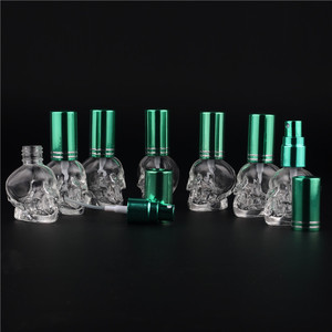Image 4 - 1pcs 8ML 10Colors Mini Travel Unique PersonalitY Skull Shape Empty Glass Perfume Bottle Small Sample Portable Parfume Bottles