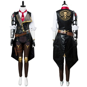 OW Ashe Cosplay Costume Elizabeth Caledonia Cosplay Costume Outfit Full Suit For Adult Women Men Halloween Carnival Costumes predator concrete jungle figure