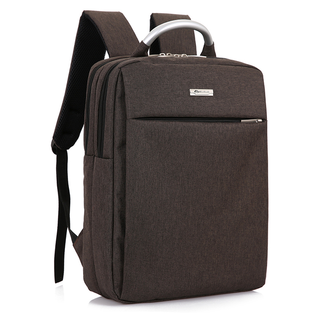 Fashionable Backpacks Office Men Shoulder Hand Book Bag Business Travel Bags For Women 2017 Brown Blue