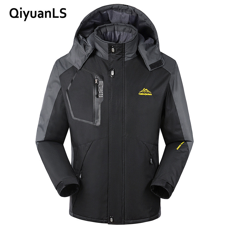 QiyuanLS Winter Jacket Men thick Windproof Hood parka mens jackets and coats Windbreaker Outdoorsport Coat Jaqueta masculina ...