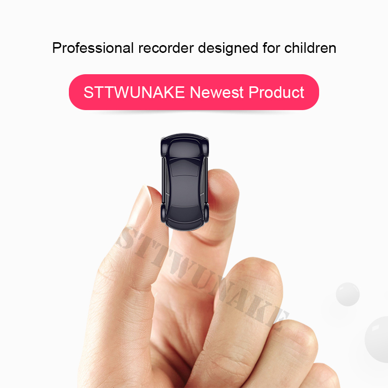 STTWUNAKE Chaveiro mini carimbo de Tempo de redução de ruído HD Gravador De Áudio gravador de voz Ditafone Projetado para crianças