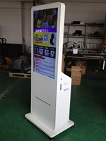 Webchat or instogram photos taken All in one printer with lcd tft full hd touch interactive face recognition digital signage