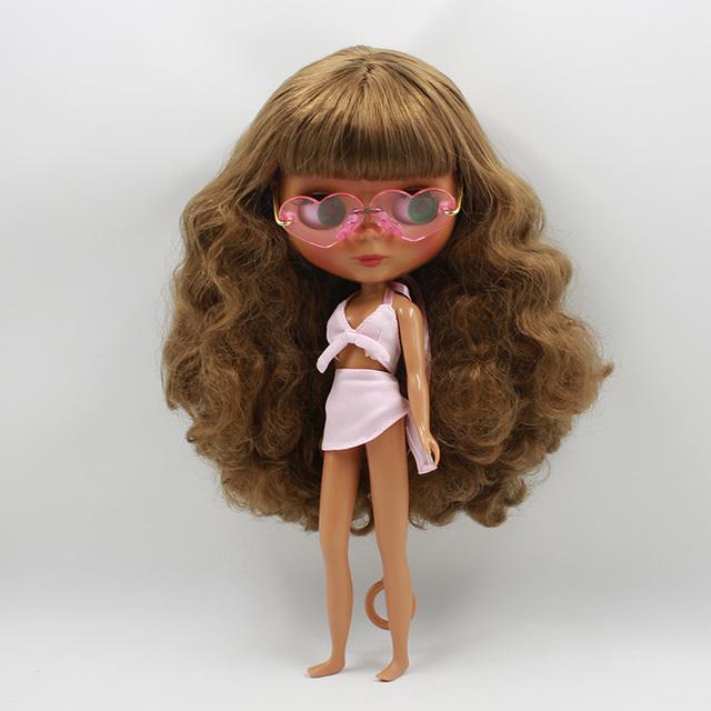 ICY Neo Blythe Doll Dark Brown Hair Dark Skin Regular Body