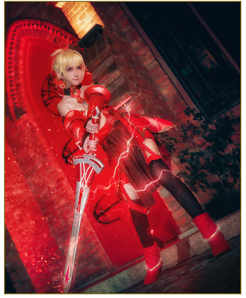 Game FGO Mordred Cosplay Costume Fate Grand Order Lancer Combats Cosplay Costume