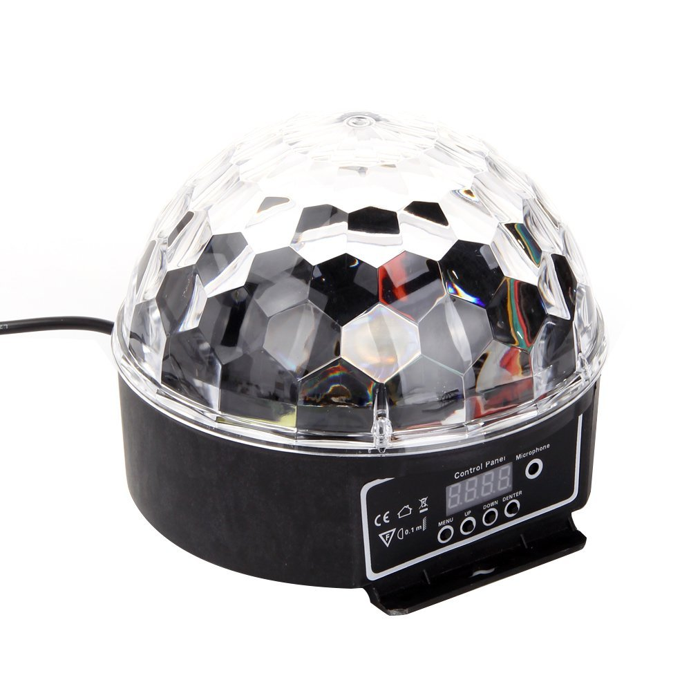 LED RGB Crystal Magic Ball Effect Light DMX Disco Dj Stage Light for KTV Club Pub Bar Wedding Show Voice-activated Stage Lights disco rgb led stage light auto rotating ball lamp effect magic party club lights for christmas home ktv xmas wedding show pub