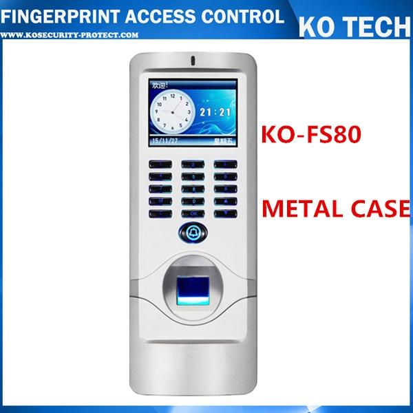 METAL IP65 Biometric Fingerprint Access Control Machine Digital Electric RFID Reader Sca ...
