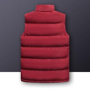 Image 4 - 2020 סתיו החורף מזדמן אפוד זכר באיכות גבוהה ללא שרוולים מעיל Mens בתוספת גודל חזייה חמה מוצק להאריך ימים יותר אפוד Veste Homme