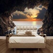 Custom 3D Stereoscopic Cave Seascape Sunrise