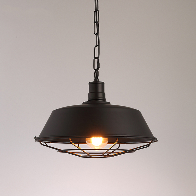 Retro Loft lamp droplight study office dinning room bar aisle corridor restaurant pub cafe chandelier hanging light headlight 3
