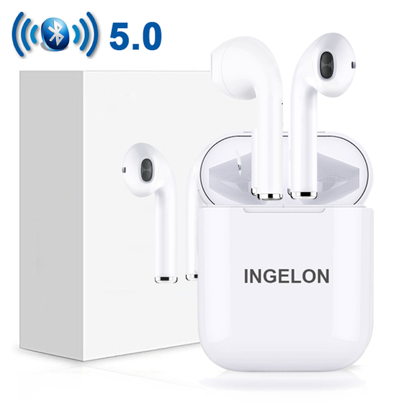 $26.26 Ingelon Airpods TWS Bluetooth Earphones Wireless Bluetooth 5.0 Earbuds Touch Series Headphones for IPhone Mobile Android Phones